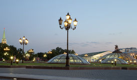 Manege Square at night, Moscow, Russia Royalty Free Stock Images
