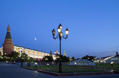 Manege Square at night, Moscow, Russia Royalty Free Stock Photography