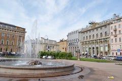 Manege Square in St. Petersburg. Stock Image