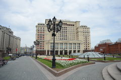 Manege square, the State Duma of the Russian Federation and the hotel Moscow. Royalty Free Stock Images