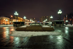 Manege Square winter's night, Moscow, Russia Stock Photo