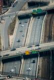Maneira alta de seis pistas em Boston fotografia de stock