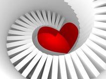 A maneira ao coração, metáfora da ilustração 3d Imagem de Stock Royalty Free