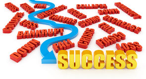 A maneira ao sucesso Fotografia de Stock