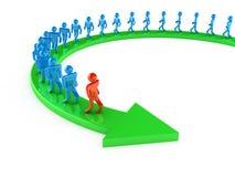 A maneira ao sucesso Foto de Stock Royalty Free