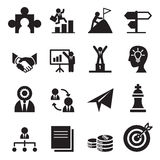A maneira aos ícones do sucesso ajustados Imagens de Stock Royalty Free