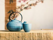Maneira asiática do tempo do chá Imagens de Stock Royalty Free