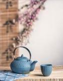 Maneira asiática do tempo do chá Imagens de Stock