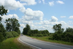 Maneira, céu e nuvens 3 Fotografia de Stock Royalty Free