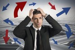 Maneira confusa de um homem de negócios Imagens de Stock Royalty Free