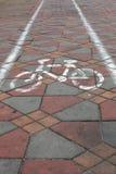 Maneira da bicicleta imagem de stock