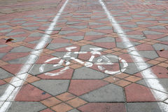 Maneira da bicicleta fotografia de stock