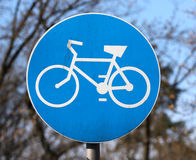 Maneira da bicicleta, sinal foto de stock royalty free