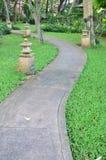 Maneira da caminhada do jardim Fotografia de Stock