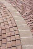 Maneira da caminhada do tijolo Imagens de Stock