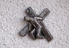 Maneira da cruz, aparência da igreja do senhor em Munchen foto de stock