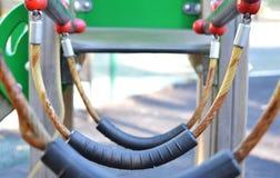 Maneira da escada de corda do campo de jogos Foto de Stock