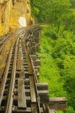 Maneira da estrada de ferro em Tailândia do norte Imagens de Stock Royalty Free