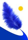 Maneira da pena azul ilustração royalty free