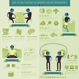 Maneira de ajudar a impedir o informação-gráfico da doença de alzheimer  Imagens de Stock Royalty Free
