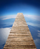 Maneira de madeira da caminhada Foto de Stock