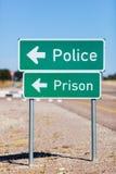 Maneira de policiar e prisão Imagem de Stock