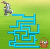 Maneira do achado do labirinto do coelho do jogo ao ovo Imagens de Stock