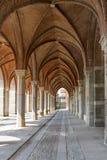 Maneira do arco no palácio antigo Foto de Stock
