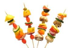 Maneira do divertimento de comer vegetais saudáveis Fotos de Stock