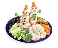 Maneira do divertimento para que os miúdos comam vegetais Foto de Stock Royalty Free