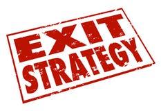 A maneira do escape do selo das palavras da estratégia de saída para fora planeia Fotos de Stock