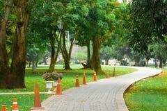 Maneira do trajeto da caminhada no parque Fotografia de Stock