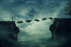 Maneira do trajeto do guarda-chuva ilustração royalty free