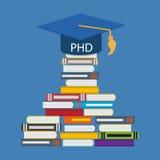 Maneira dura e longa ao doutor do grau de filosofia PHD ilustração royalty free