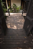 Maneira e natureza do trajeto no jardim Foto de Stock Royalty Free