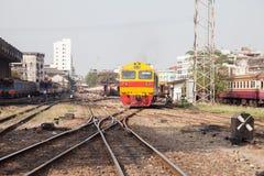 Maneira e trem do trilho Imagem de Stock