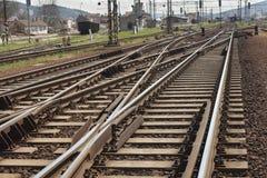 A maneira envia a estrada de ferro foto de stock