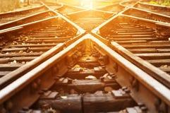 A maneira envia a estrada de ferro Imagens de Stock Royalty Free