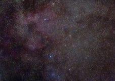 Maneira leitosa na constelação do Cassiopeia ilustração do vetor