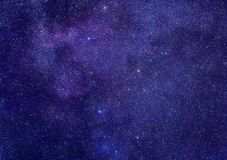 Maneira leitosa na constelação do Cassiopeia Fotografia de Stock Royalty Free