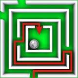 A maneira a mais curto sobre o verde Imagens de Stock Royalty Free