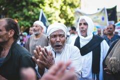 Maneira Rifai Sufi Egito das celebrações imagem de stock
