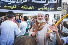 Maneira Rifai Sufi Egito das celebrações fotos de stock