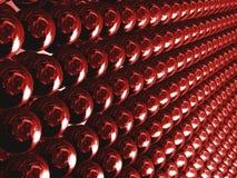 Maneira vermelha das esferas Fotos de Stock Royalty Free