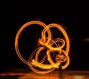 Manejo de la bola de fuego Fotos de archivo libres de regalías
