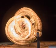 Manejo de la bola de fuego Imagen de archivo libre de regalías