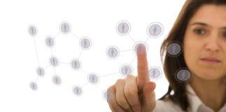 Manejo de su red del contacto Fotografía de archivo
