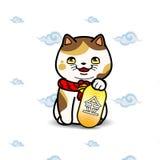 Maneki Neko猫雕象 库存图片