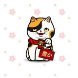 Maneki Neko猫雕象 库存照片