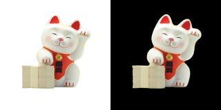 Maneki neko -日本幸运的猫 免版税库存图片